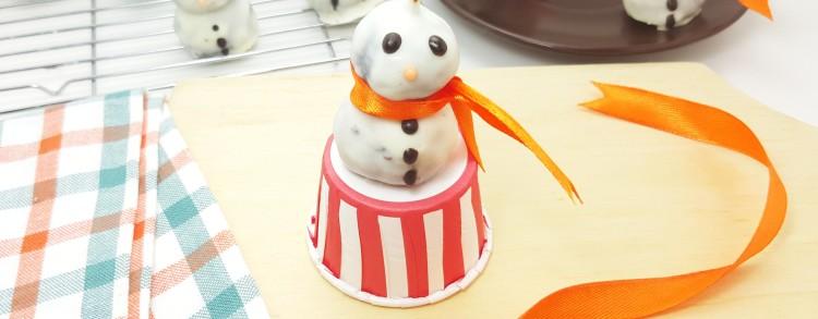 Cake Pop Snowman